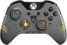 Erziele Erfolge mit dem #Xbox One Limited Edition Call of Duty: Advanced Warfare #Wireless Controller.  Mit individuellem Sentinel Task Force-Design sieht er aus, als stamme er direkt von den Schlachtfeldern der Zukunft. Bereite dich auf den Kampf vor, sobald du dir eine Bonuslieferung geholt hast, mit der du – von individueller Spielerrüstung bis hin zu Waffen – eine Reihe In-Game-Inhalte abgreifen kannst. #Gaming #Spielkonsolen