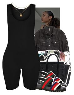 A fashion look from September 2017 featuring denim jacket, romper jumpsuit and travel bag. Browse and shop related looks. Swag Outfits For Girls, Cute Swag Outfits, Chill Outfits, Teenager Outfits, Dope Outfits, Teen Fashion Outfits, Look Fashion, Trendy Outfits, Summer Outfits