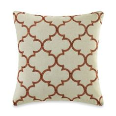Buy MYOP Club Embroidery Square Throw Pillow Cover in Rust from Bed Bath & Beyond