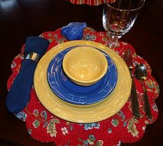 Longaberger Pottery place setting