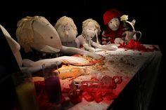 "Dummies Project - Happy Birthday Dummy! (backstage) Making of the video ""Happy Birthday Dummy!"" Shots Sandro Mottadelli Milan, 2013. Location: Teatro Studio Frigia 5. Performers: Federico Bertozzi, Gigi Belfiore, Marina Beraha, Cloris Paris, Elena Varesi. Characters (from left): Romeo, Swanny, Booty, Peachie, Little No."