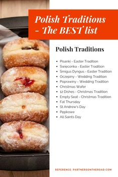 Complete list of the BEST Polish traditions. You want to find out what Fat Thursday is about? How do we celebrate Easter, Christmas and Weddings? No better place to go than this article! Polish Wedding Traditions, Polish Christmas Traditions, Polish Desserts, Polish Recipes, Polish Food, Easter Recipes, Holiday Recipes, Polish People, Polish Language
