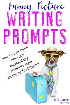 Funny Picture Writing Prompts can be a LOT of fun in your 2nd, 3rd, 4th, 5th, and 6th grade classroom or homeschool! Click through to see where to find a HUGE collection of funny picture prompts that you can use with your students at ANY time. You'll also