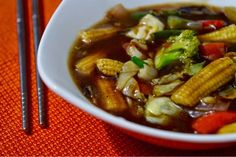 exotic-n-easy cooking: Assorted Vegetables in Chilly Garlic Sauce