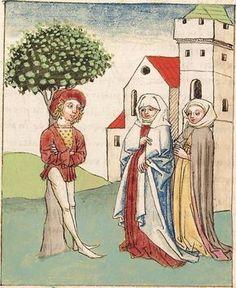 Antonius <von Pforr> Buch der Beispiele der alten Weisen — Oberschwaben, um 1475 Cod. Pal. germ. 466 Folio 265v