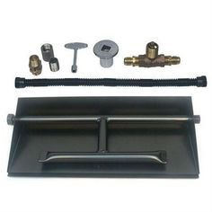 Steel Dual Burner Pan Kit for LP Powder Coated by Dreffco (Propane) #Dreffco