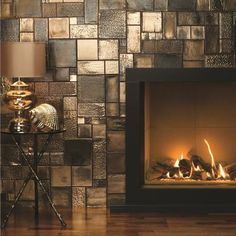 Foundry Metallic tiles are dramatic and distinctive. The use of different lighting effects such as fire light, soft focus and spot lights will simply add to the drama. You can use one size or combine them to make up your own patterns - feel free to mix and match to create your own unique metallic masterpiece.