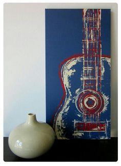 Abstract Art Diy Canvases Mixed Media 50 Ideas For 2019 Guitar Painting, Music Painting, Guitar Art, Polychromos, Arte Pop, Diy Canvas, Watercolor Art, Modern Art, Cool Art