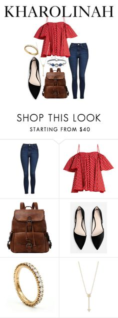 """""""Kharolinah -19"""" by melinda-lancaster on Polyvore featuring Topshop, Anna October, MANGO, Cartier and EF Collection"""