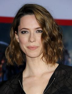 Rebecca Hall's long bob, all over glow
