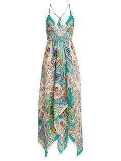 Paisley-print halterneck satin dress   Etro   MATCHESFASHION.COM