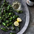 Try the Blistered Padrón Peppers Recipe on williams-sonoma.com/