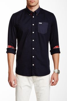 Polka Dot Long Sleeve Shirt on HauteLook