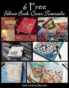 6 Free Fabric Book Cover Tutorials