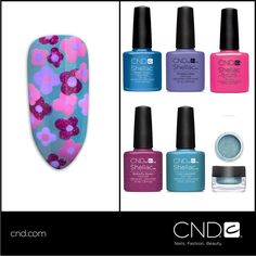 The 'Forget Me Not' was created with in Water Park, Wisteria Haze, Hot Pop Pink, Butterfly Queen and Lost Labyrinth and Additives! Cnd Nails, Cnd Shellac, Gel Nail Polish, Creative Nail Designs, Creative Nails, Nail Art Designs, Salon Services, Hair And Nails, Lipstick