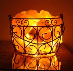 Want two for the bedroom - Himalayan Salt Lamp. $45.00, via Etsy.