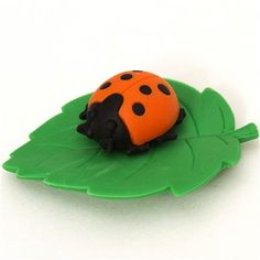 orange ladybird eraser by Iwako from Japan 1