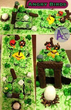 Angry birds chocolate cake