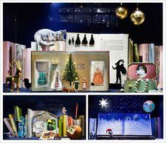 LES VITRINES DE NOEL - DE BIJENKORF à AMSTERDAM - NK à STOCKHOLM. http://www.plumevoyage.fr/magazine/voyage/luxe/une-halte-voyage-imaginaire-vitrines-de-noel-london-paris-stockholm-nyc/