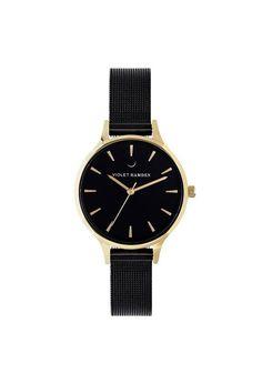 Violet Hamden Nowness Gold Midnight Black Daniel Wellington, Gold Watch, Rose Gold, Watches, Accessories, Black, Wristwatches, Wrist Watches, Black People