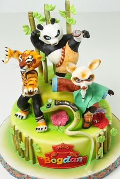 Superb 34 Best Kung Fu Panda Cakes Images Kung Fu Panda Cake Panda Funny Birthday Cards Online Alyptdamsfinfo