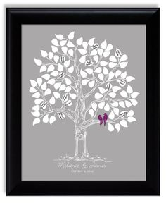 Unique Wedding Guest Book Custom Guest Book Tree by fancyprints