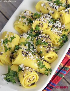Khandvi ( Microwave Recipe )