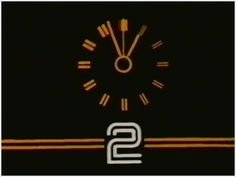 BBC2 clock-Early 1980's/Mid 1980's