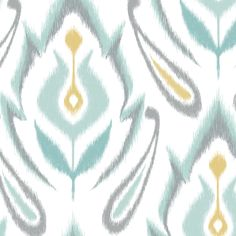 Living Room Curtain Accent Fabric....YESSS!!!  Soft Ikat fabric by pattysloniger on Spoonflower - custom fabric