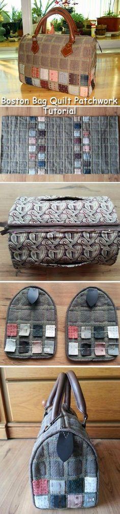 Handbag  pouch bag quilt applique patchwork gift handmade. DIY step-by-step tutorial. Сумка Бостон своими руками, техника квилт пэчворк. http://www.handmadiya.com/2015/08/boston-bag-quilt-patchwork.html