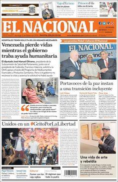 #20160221 #VENEZUELA #Caracas #ELNACIONALdiarioCARACAS Domingo 21 FEB 2016 http://en.kiosko.net/ve/2016-02-21/np/ve_nacional.html