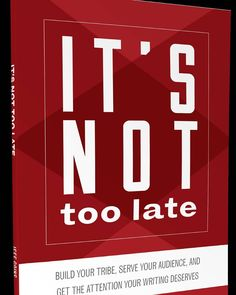 Check out @JeffGoins brand new ebook. If you think its too late to be a writer youre wrong! Link in comments