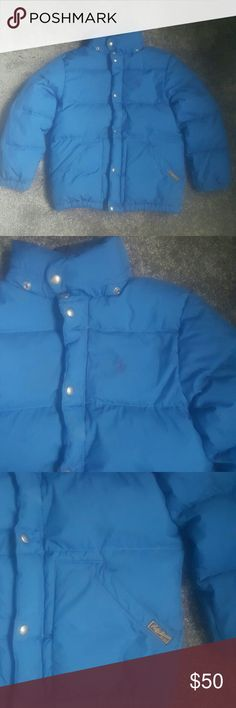 Boys Polo coat Blue coat has some dark stains but isn't visible to the eye. Size 8. Puffer coat. Detachable hood. Polo by Ralph Lauren Jackets & Coats Puffers