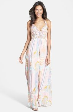 Jessica Simpson Beaded Print Maxi Dress (Nordstrom Exclusive) available at #Nordstrom