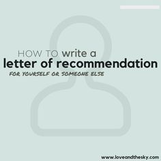 Check Out This Sample Letter Of Recommendation For Graduate School