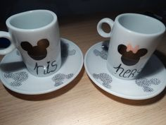 sharpie mug His & Hers, Mickey & Minnie Homemade