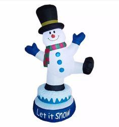 Christmas Holiday Basix 90107 Rotating Inflatable Snowman With Motion 5 FT NIB  | eBay
