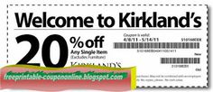 Kirklands Coupons Ends of Coupon Promo Codes JUNE 2020 ! Kfc Coupons, Shopping Coupons, Online Coupons, Pizza Coupons, Free Printable Coupons, Free Printables, Red Lobster Coupons, Sherwin Williams Coupon, Thing 1