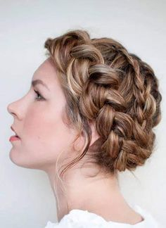 Hair style girl Step By Step for wedding Braided Hairstyles Updo, Pigtail Hairstyles, Hairstyles With Bangs, Girl Hairstyles, Wedding Hairstyles, Updo Hairstyle, Wedding Updo, Hairstyle Images, Hairstyle Tutorials