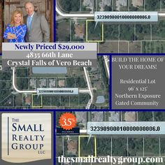 NEWLY PRICED and ready for your dream home! Call Kim & Ron Small today… Kim And Ron, Indian River County, Vero Beach Fl, Northern Exposure, Treasure Coast, Gated Community, Coastal Living, Small Groups, East Coast
