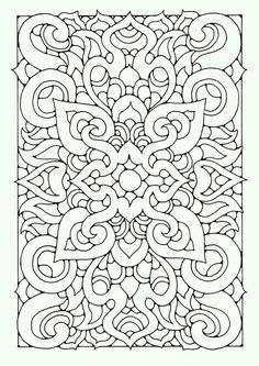 Geometric Pattern Coloring Page
