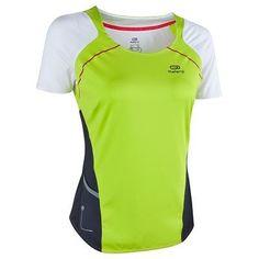 20d29417e Deporte Running - Camiseta de manga corta de running mujer Kalenji Kiprun  lima