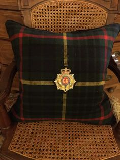 A personal favorite from my Etsy shop https://www.etsy.com/listing/479749583/heraldic-pillow-made-from-ralph-lauren