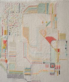 Embroidered Buenos Aires map guide cover > by Rita Smirna.