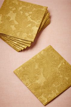 Chantilly Cocktail Napkins (15) from BHLDN love these napkins... if i got 300 for the main bar it would be $120.... tempting
