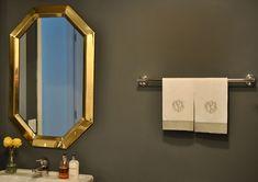 Vintage mastercraft brass mirror bathroom