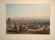 BY KARL BODMER.............SOURCE BING IMAGES........ENCAMPMENT OF THE PEIKANN INDIAS.................