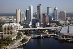 Downtown Tampa along the Hillsborough River by SkylineScenes, via Flickr