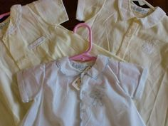 Vintage Feltman Brothers baby boy gowns