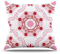 26 x 26 Square Floor Pillow Kess InHouse Pom Graphic Design Floral Dance in The Dark